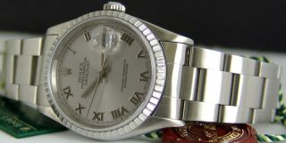 Rolex Men's 36mm Stainless Datejust Model 16220 Sant Blanc
