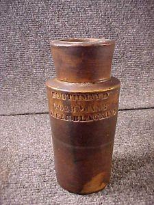 Antique Stoneware Ink Southmayd Boardmans Japan Blacking Attic Find Bottle
