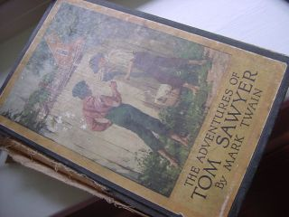 Antique The Adventures of Tom Sawyer by Mark Twain Book