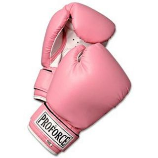 ProForce Women's Pro Style MMA Sparring Boxing Gloves 10 12oz Pink C429