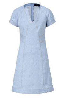 Pale Denim Cap Sleeve A Line Dress von DEREK LAM  Luxuriöse