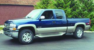 Custom Running Boards 99 07 Chevy Silverado Sierra Ext Cab Black Truck Steps