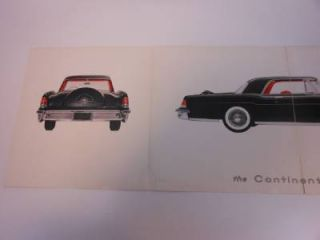 1956 Lincoln Continental Mark II 2 Dealer Showroom Sales Brochure Book