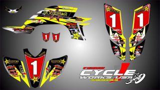 Yamaha YFZ450 YFZ Custom Graphic Kit Decal Yellow