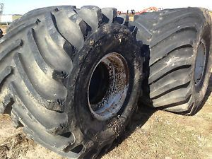 2 66 43 25 Goodyear Firestone Terra Tire 10 Ply Floater Spreader Skidder Tires