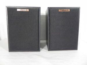 Superb Klipsch KG1 Bookshelf Speakers Black Cabinets Sequential Serial Numbers