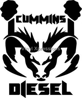 "Cummins RAM Dodge Diesel Truck 12"" Coal Roller Decal Back Glass Window Sticker"