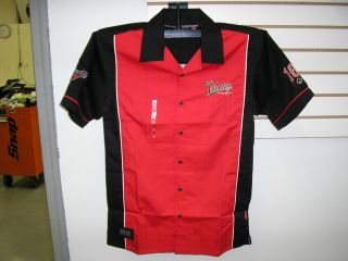 Victory Motorcycles Men's Pit Crew Button Up Shirt Size 2XL XXL Freedom 106