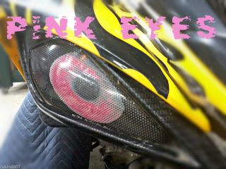 "Yamaha Raptor 660 New Pink Eyes Headlight Covers ""Original Rukindcovers""ATV MX"