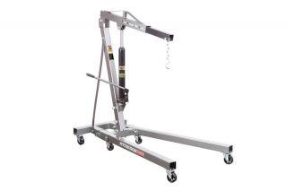 New 1 Ton Capacity Foldable Portable Shop Crane Engine Lift Hoist Cherry Picker