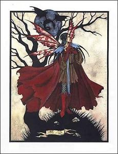 Amy Brown Faery Moon Print Limited Edition Le Retired Male Boy Man Fairy Signed