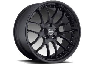 "19"" MRR GT 7 GT7 Matte Black Staggered Rims Wheels Fits BMW E90 M3 Sedan"