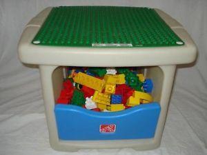 Lot Step 2 Kids Tiddler Building Block Table 155 Mega Bloks Lego Duplo
