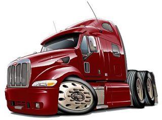 Peterbilt 587 Semi Truck Cartoon Tshirt New