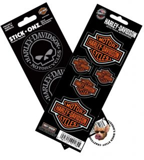 Harley Davidson Willie G Skull Decals and Bar Shield Decals Made in USA