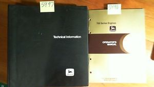 John Deere 700 Series 955 15 6L 8955TF 8955AF Engine Technical Manual Operator