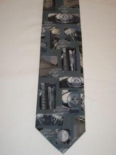 Harley Davidson Tie Engine Parts Necktie Ralph Marlin