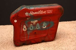 Vintage Hamilton Heavy Duty Pedal Car Tractor Part Tank Engine RARE