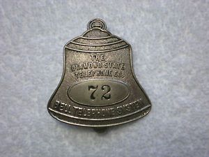 """Antique """"The Diamond State Telephone Co"""" Bell Telephone System Bell Shaped Badge"""