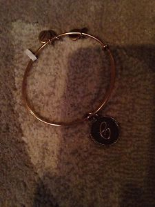 Alex and Ani Russian Gold Letter Initial C Bangle