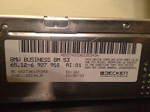 BMW Business Navigation Radio Stereo Tuner Becker BM53 E39 E46 M3 M5 x5 02 03 04