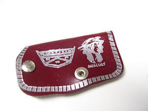 Vintage 60s 70s Ford Genuine Accessories Original Auto Car Leather Key Case