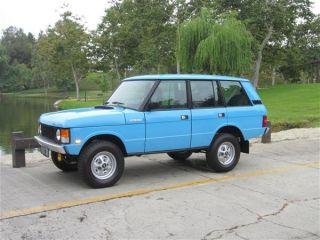 1987 Range Rover Classic Retro Iconic Tuscan Blue Paint