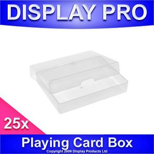 25x Playing Card Deck Clear Plastic Storage Container Boxes Business Card Holder