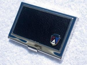 Ford Business Card Credit Card Case with Classic Ford Emblem Badge