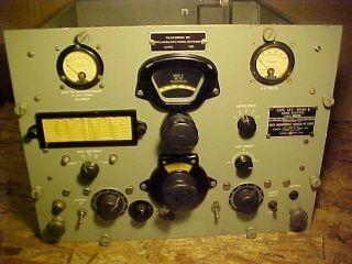Vtg RBA 7 US Navy Receiver WW2 Longwave Tube Radio CFT 46154 B LW Ham Restored