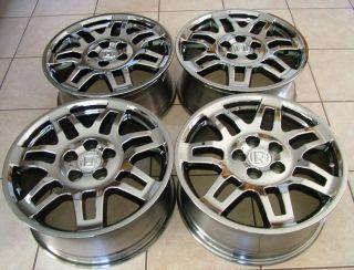 "2009 2013 Genuine Honda Ridgeline 18"" Chrome Look Alloy Wheels RARE Smoke Grey"