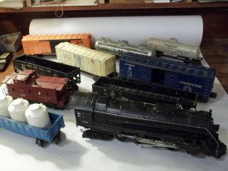 Vintage Lionel O Scale Train Set Track Switches 736 Engine 6357 3472 6025 6112