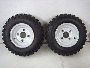 Ariens Snowblower 400 x 8 Snow Hog Tire w Rim Pair 07121900 07100017 Good Cond