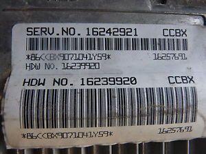 1997 Cevy Camaro LT1 V8 Auto Trans ECU ECM Engine Computer 16242921 CCBX