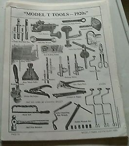 Model T Ford Tools Accessories 1920s Magazine Article