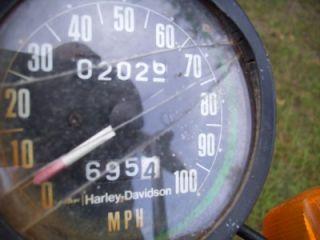 1976 AMF Harley Davidson SS250 Enduro Motorcycle Parts Bike