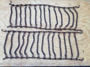 Garden Tractor Tire Chains for Traction on Wet Grass Mud and Snow