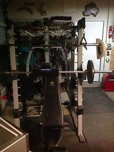 Golds Gym Platinum Weight Bench Smith Machine Cables