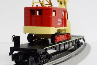 Lionel Thunder Valley Steam Shovel Flat Car Mine Ore Train Crane O Gauge 6 30124