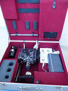 Bolex H16 Reflex 16mm Camera w Kern Paillard 50mm Lens and Accessories