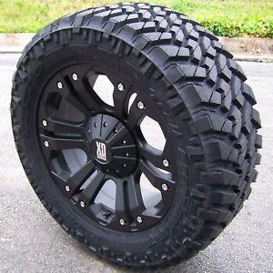 "20"" XD Monster Wheels Nitto Trail Grappler Tire 6 Lug Silverado GMC Ford F 150"