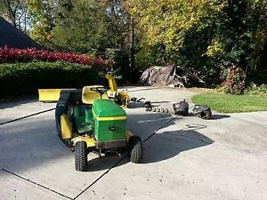 John Deere 111 Lawn Tractor Snowblower Snow Blade Bagger Tire Chains