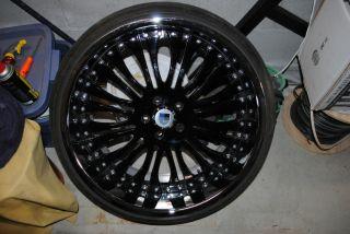 "22"" BMW 6 7 Series 5x120 asanti AF125 Chrome Black Staggered Wheels Rims Tires"