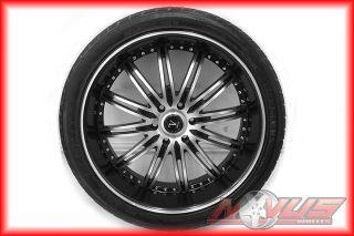 "24"" Velocity Black Wheels Cadillac Escalade Chevy Tahoe GMC Yukon Tires 22 20 26"