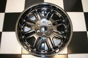 "22"" Black Chrome Wheel Rim Custom Aftermarket Dale Earnhardt Jr ""Tank"" Single"