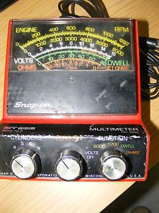 Vintage Snap on Tool Co MT 926 Multi Meter Tach Dwell RPM Volts