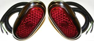 Ford Tail Lights 1942 1948 Deluxe Hot Rat Rod Car Pair