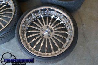 "22"" asanti AF 122 All Chrome Staggered Wheels Rims Tires BMW 7 Series 745 750"