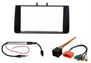 Radio Stereo Installation Mount Double DIN Dash Kit Wire Harness Adapter