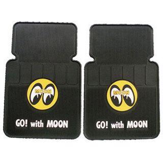Mooneyes Floor Mats Go Moon Rat Hot Rod Custom Truck Auto Car Gasser 4x4